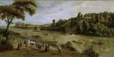 The Thames at Richmond, with the Old Royal Palace, unknown artist, early 17th century Fitzwilliam Museum Collections Explorer - Object 61 (Id:1388)