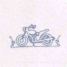 Free Embroidery Design: Motorcycle