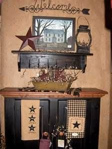 Black Checks And Star!! Metal Stars... Salt Box Pics Primitive Bathroom