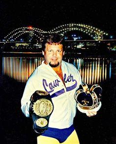 Jerry Lawler with Memphis bridge Memphis Bridge, Jerry The King Lawler, Wrestling Stars, Wrestling Superstars, Champs, Role Models, Mma, Captain Hat, Boxing