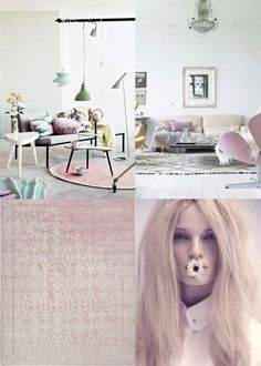pastel color decoration style via munahome blog