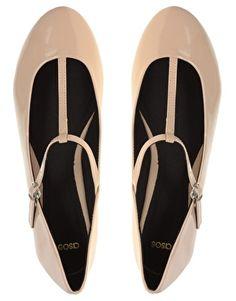 Patent T-bar Ballet shoes.