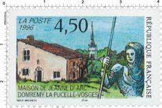 Timbre : 1996 MAISON DE JEANNE D'ARC DOMRÉMY LA PUCELLE - VOSGES | WikiTimbres