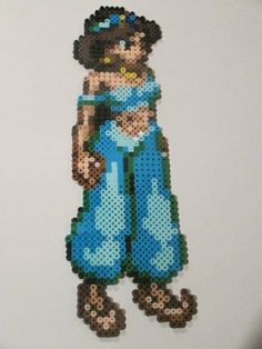 Jasmine Princess Perler Bead Art Wall Decor or Magnet from House of Geekiness on Storenvy