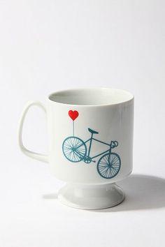 Bike Flared Mug - totally DIY with sharpies and a full size coffee mug