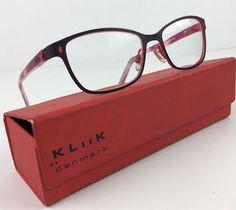 c19eb0de19d  195 Kliik Denmark Eye Glasses Frames 509 47 16-135 Eyeglasses Fuchsia   Kliik