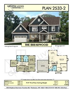 Greater Living Architecture in Rochester, NY provides premier home plans for any stage of life from Starter to Luxury to Empty Nester homes. Two Story House Plans, Two Story Homes, House Floor Plans, Sims Building, Building A House, Green Building, Building Ideas, Building Design, Future House