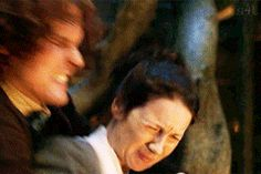 """""""Give her to my men to do with what they will"""" - Claire, Jamie and Murtagh #Outlander ((Such a great act, bahahaha!))"""