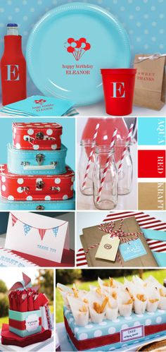 @Alisa Watson - I've noticed that lots of your pins have had this color scheme...this could be cute for a birthday party!!