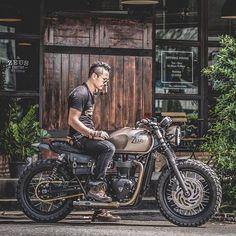 THE BORONZE PROJECT BY ZEUS CUSTOM #zeuscustom #triumph #t120 #bonneville #zeuscustom #boronze #triumphcustom #brat #trackers #scrambler #caferacer #zeuscustomstyle #bangkok #thailand