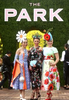 The Park: Among those visited Flemington Racecourse on Tuesday for the horses, were many others who were there for one purpose: to take out the prestigious title of Myer Fashions on the Field (2016)