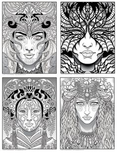 Design For Kids Free printable coloring pages for children that you can print out and color. Printable Adult Coloring Pages, Coloring Book Pages, Coloring Tips, Coloring Tutorial, Beauty Book, Creative Colour, Fantasy, Colorful Pictures, Groomsmen