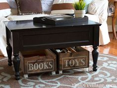Upcycled Home Decor Projects: Add wheels to crates and you have insta-drawers #diy