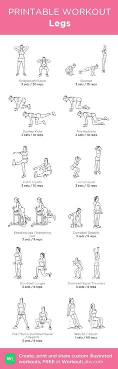 Legs:my custom printable workout by @WorkoutLabs #workoutlabs #customworkout by Alexandra A