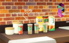 My Sims 4 Blog: Starbucks Set by SimmingWithAbbi