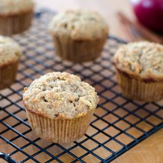 Bake and freeze Apple Paleo Muffins for grab-and-go breakfasts during the week. #glutenfree #grainfree Click for recipe -> http://cookeatpaleo.com/apple-paleo-muffins/