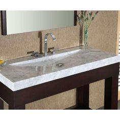 bathroom vanity tops with sink. Italian Carrera Marble Vanity Top with Integral Sink Basin in White You need to know that this kind of bathroom vanity top provides