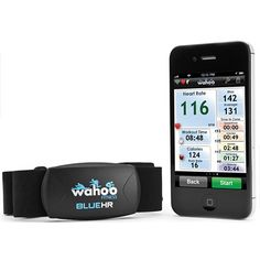 wahoo BlueHR Heart Rate Monitor. Connects via bluetooth to your phone for easy workout stats. | #holiday #gift #gadget #tech #fitness