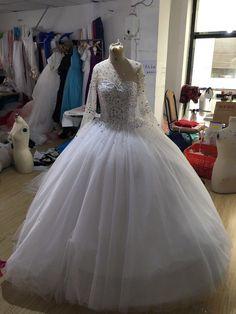 robe de mariée princesse buste en strass