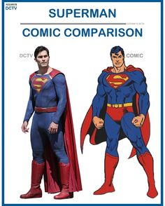 """48 Likes, 2 Comments - • Accurate.DCTV • dctv fanpage (@accurate.dctv) on Instagram: """"• Superman - Comic Comparison • Tyler Hoechlin did a great job getting the Boy Scout & kind nature…"""""""