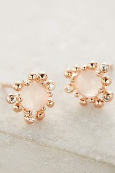 Anthropologie EU Urchin Studs. Add a hint of delicate, rosey shimmer to ensembles with these oh-so feminine studs.