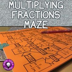 Multiplying Fractions Maze is an engaging activity to practice multiplying fraction without mixed numbers. Perfect for extra practice, partner work, small group activity, for fast finishers, or for whole class activity. Multiplying Fractions Game, Adding And Subtracting Fractions, Dividing Fractions, Equivalent Fractions, Multiplication, Math Resources, Math Activities, Math Games, Math Tips