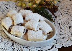 CORNULETE FRAGEDE CU GEM SI NUCI Feta, Camembert Cheese, Diy And Crafts, Food And Drink, Dairy, Cookies, Sweet, Panda, Life