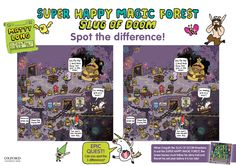 Can you spot the difference?! Download our Super Happy Magic Forest: Slug of Doom activity sheets now! (PDF)