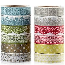 Anna Griffin® Lace Washi Tape - 12 Rolls