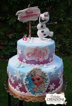 Original tarta para fiesta temática Frozen