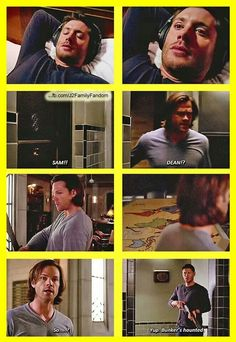 Yup....bunkers haunted. Even though Dean is so upset at Sam the first thing he does is call for his brother to warn him and check on him because he still loves him. <~~~ *sigh* my heart. But let's not forget, Sam was pretty panicked looking for Dean.