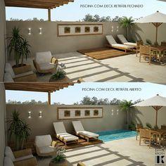 52 Ideas Backyard Design Patio Deck Plans For 2019 House Design, Small Pool, Small Backyard, Backyard Design, Patio Design, Pergola Designs, Outdoor Design, Outdoor Deco, Outdoor Living