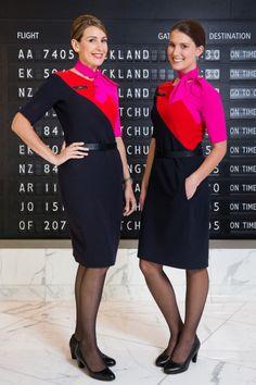 Qantas cabin crew I love their uniforms SO much! SO much nicer than mine..