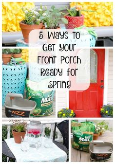 Is your front porch and lawn ready for spring and summer parties? I've got some tips and tricks to get your porch and yard in tip top shape! #LoveYourLawn  AD