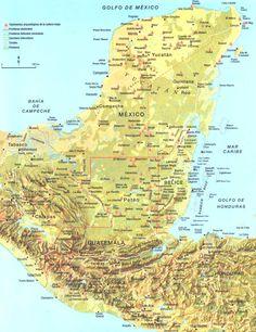 Tourist Map Of Mayan Cities Archaeological Sites Mayan Mayan