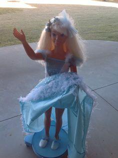 Girl's My Size Barbie Doll Princess Blonde Hair Blue Dress Mattel Large 3' Nice!  | eBay