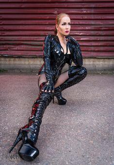 Platform Boots, High Heel Boots, Heeled Boots, High Heels, Knee Boots, Sexy Latex, Catsuit, Mistress, Punk