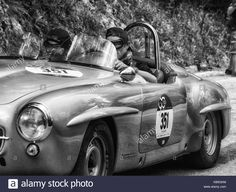 Download this stock image: MERCEDES-BENZ 190 SL 1955 on an old racing car in rally Mille Miglia 2017 the famous italian historical race (1927-1957) on May 19 2017 - KB5GKM from Alamy's library of millions of high resolution stock photos, illustrations and vectors.