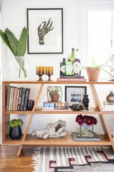 Some of Ashley's favorite things on display in her home office.