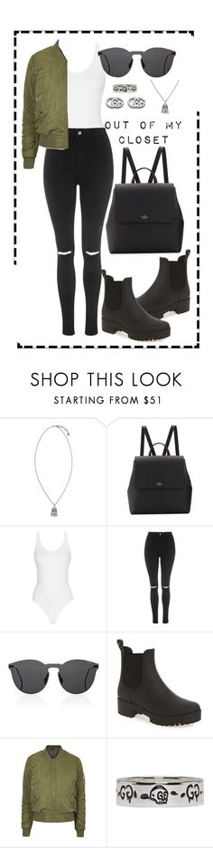 """""""What's in my closet"""" by brookemuir ❤ liked on Polyvore featuring Gucci, Kate Spade, Topshop, Illesteva and Jeffrey Campbell"""