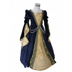 Girl's Deluxe Medieval Tudor Costume Age 5 ($28) ❤ liked on Polyvore featuring dresses, medieval and costume