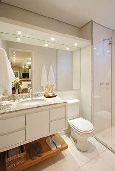 Banheiro Casal -Apartamento Decorado - Queiroz Galvão