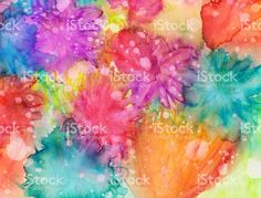 Bright vivid colors hand painted with texture on paper royalty-free stock photo
