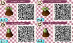 hello — ~Brown Overalls~ Animal Crossing Qr Codes Clothes, Animal Crossing Villagers, Animal Crossing Pocket Camp, Animal Crossing Game, Motif Acnl, Ac New Leaf, Ac2, Happy Home Designer, Rock Painting Patterns