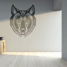 Wall Decal Wolf, Home Decor, Vinyl Sticker Decal - Good for Walls, Cars, Ipads, Mirrors Etc by PSIAKREW on Etsy