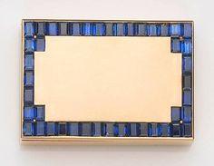 A sapphire and eighteen karat gold pillbox, Van Cleef & Arpels, France