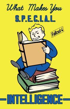 Intelligence S.P.E.C.I.A.L. Fallout 4 Art Print