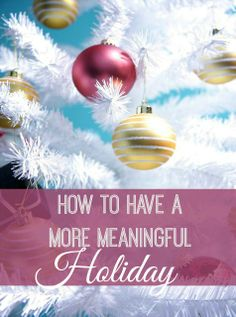 If you feel like your to-do list is a mile long and you're forgetting what the holiday season is about, read this!