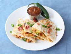 BBQ Chicken Quesadilla via @Marie - Make and Takes