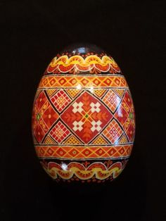 Ukrainian Easter Egg goose eggs pysanky by BeautifulEggsByDiane